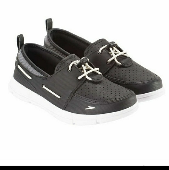 Speedo port black and white water boat shoes 7